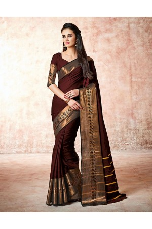 Maarit amber maroon Cotton Sarees