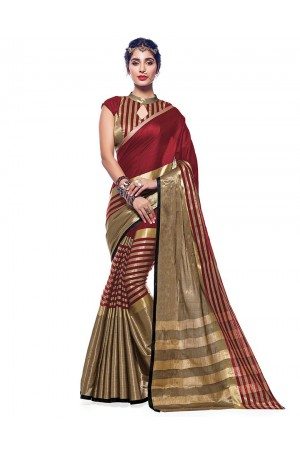 Ora Ruby Pink Designer Wear Cotton Saree