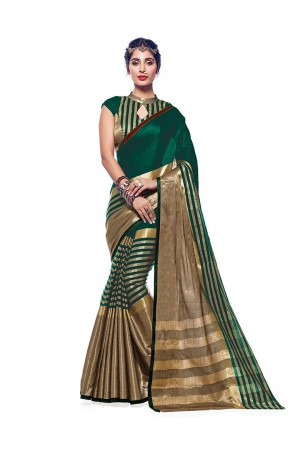 Ora Tender Green Designer Wear Cotton Saree