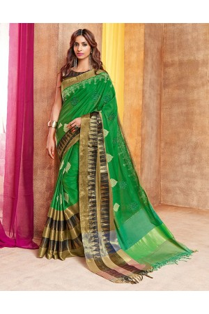 Pazeb Designer Wear Cotton Saree