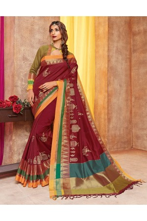 Saarang Designer Wear Cotton Saree