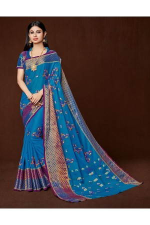 Saina Designer Wear Cotton Saree