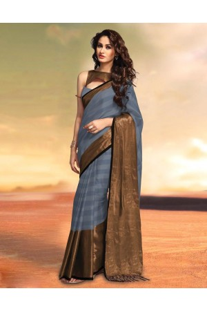 Sana Ash Party Wear Cotton Saree