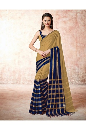 Santana duskin beige Cotton Saree