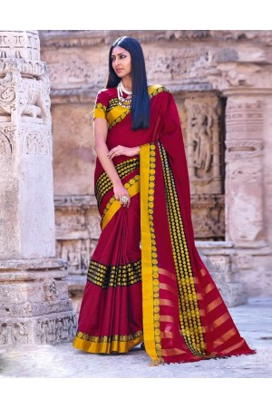 Simar Wedding Wear Cotton Saree