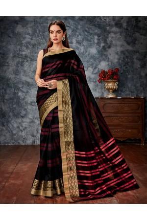 Tamanna Black Cotton Saree