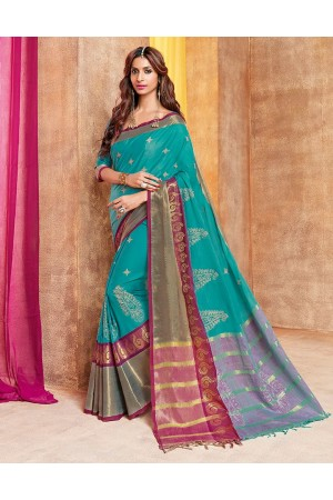 Zonira Designer Wear Cotton Saree