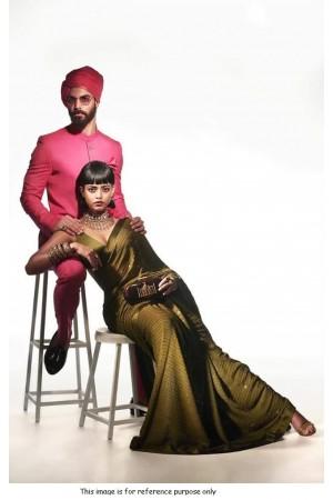 Bollywood Sabyasachi Inspired mehandi georgette sequin saree