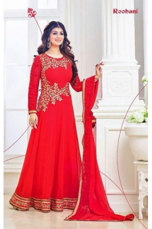 Ayesha takia Eid Special red Anarkali Suit
