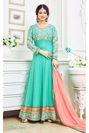 Ayesha takia Eid Special sea green Anarkali Suit