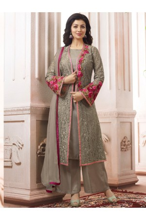 Ayesha Takia Grey color party wear salwar kameez