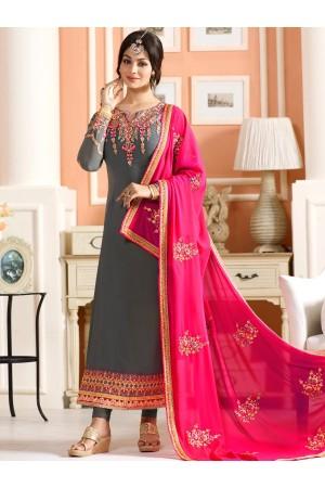 Ayesha Takia grey and pink color party wear salwar kameez