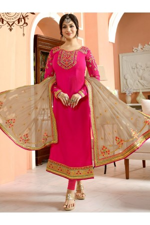 Ayesha Takia Pink and beige color party wear salwar kameez