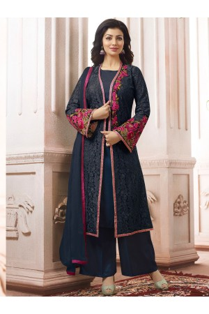 Ayesha Takia Navy blue color party wear salwar kameez