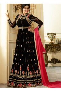 Ayesha Takia Black color georgette party wear salwar kameez
