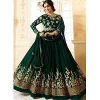 Ayesha Takia Green color georgette party wear salwar kameez