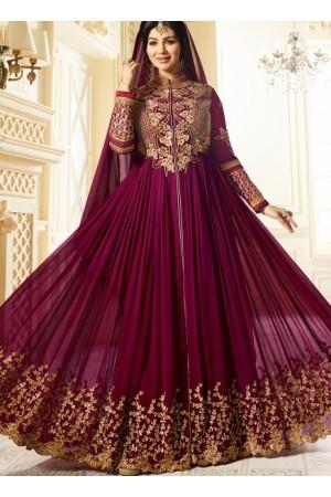 Ayesha Takia Purple color georgette party wear salwar kameez