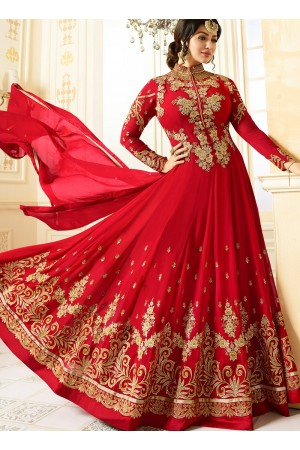 Ayesha Takia Red color georgette party wear salwar kameez