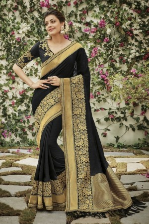kajal aggarwal black colour 1203KM