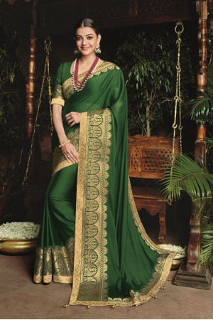 kajal aggarwal dark green colour 1220KM