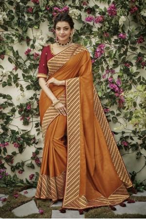 kajal aggarwal deep mustard colour 1206KM