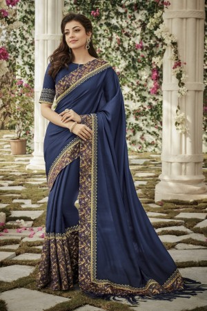 kajal aggarwal navy blue colour 1207KM