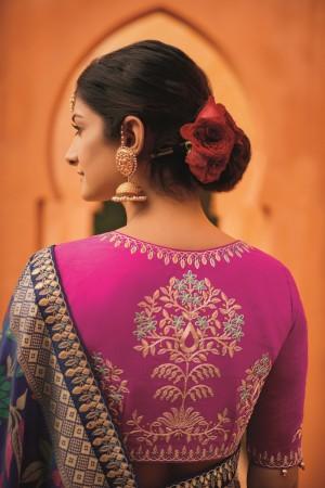 sunheri meena and embroidery work blue colour 1214KM
