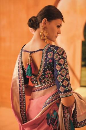 sunheri meena and embroidery work pink colour 1213KM
