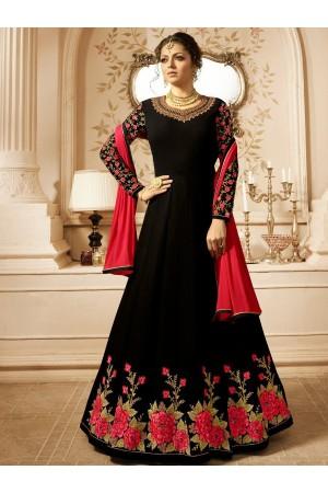 Drashti Dhami Black color vaishnavi georgette  wedding anarkali