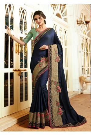 Party wear Designer Sarees Dark Blue 7803