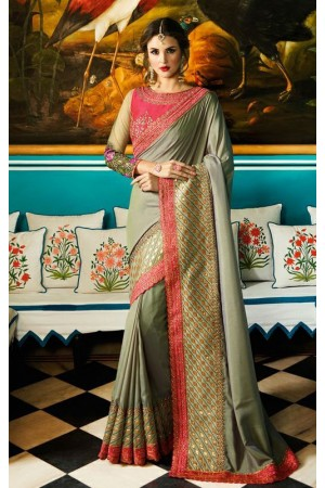 Party wear Designer Sarees Grey Colour 7810