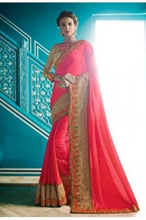 Party wear Designer Sarees Pink Colour 7805
