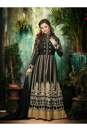 Ayesha takia Eid Special Hand work Black Anarkali Suit