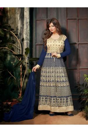 Ayesha takia Eid Special Hand work Blue Anarkali Suit