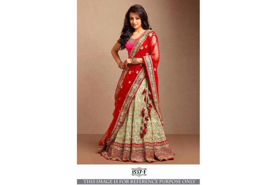 434c9f656d Bollywood Style Trisha Red color lehenga in USA, UK and Canada