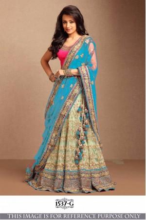 Bollywood Style Trisha SKy Blue Color Embroidery Work Lehenga Choli
