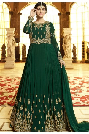 Ayesha Takia Green Georgette Anarkali Suit 22024