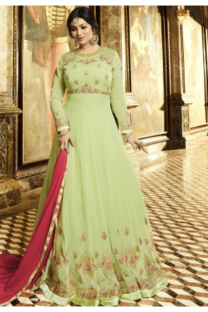 Ayesha Takia Sea Green Georgette Anarkali Suit 22027