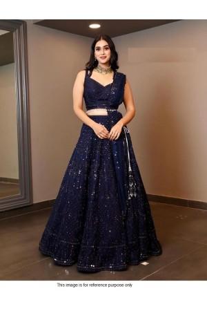 Bollywood Model blue georgette lehenga choli