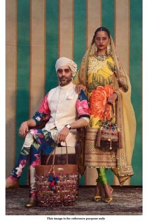 Bollywood Sabyasachi Inspired floral Yellow churidar