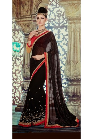 Party-wear-Black-color-10-saree