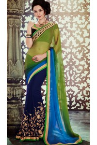 Party-wear-Green-Blue-5-color-saree