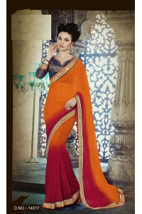 Party-wear-Orange-Red-10-color-saree