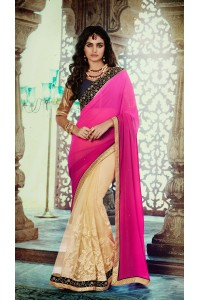 Party-wear-Pink-Beige-4-color-saree
