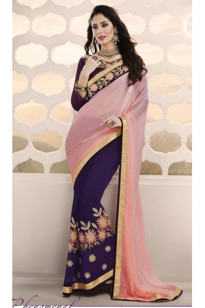 Party-wear-purple-pink-color-saree