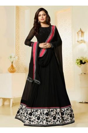 Drashti Dhami black color georgette party wear salwar kameez