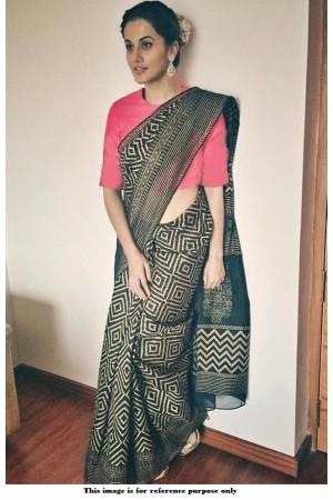 Bollywood Taapsee Pannu chanderi cotton saree