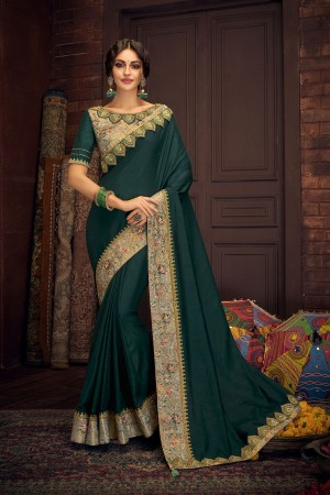 Indian wedding wear saree 13408