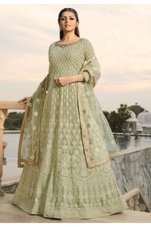 drashti dhami pastel green georgette embroidered floor length anarkali suit 3806