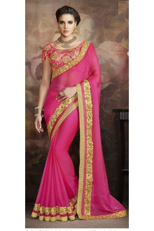 Party-wear-Pink-color-6-saree